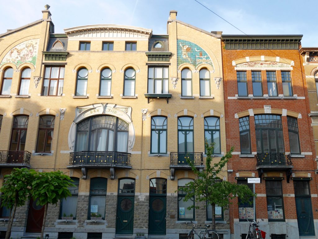 Art Nouveau houses in Antwerp
