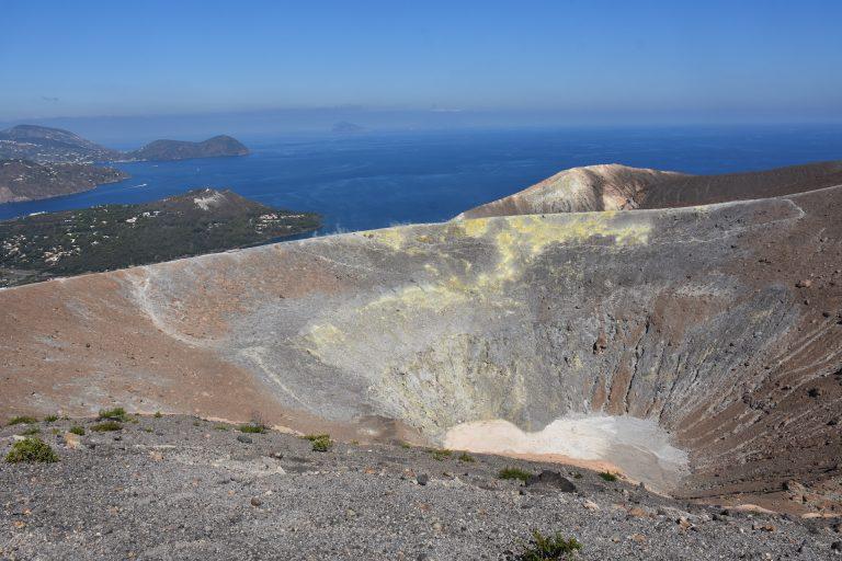 crater of Vulcano island