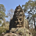 Face sculpture Angkor