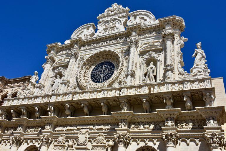 facade santa croce in Lecce